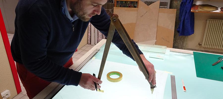 creation vitrail artisan Angers