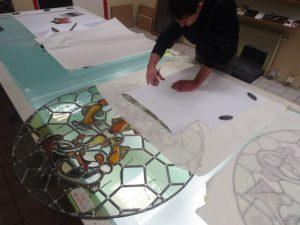 Peinture sur verre - création de vitraux