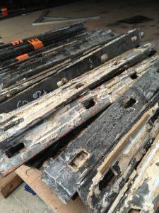 Corrosion sur montants métalliques vitraux