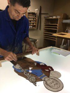 peinture sur verre creation vitrail
