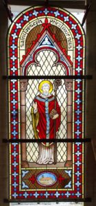 vitrail d'inspiration XIXe saint Cyran